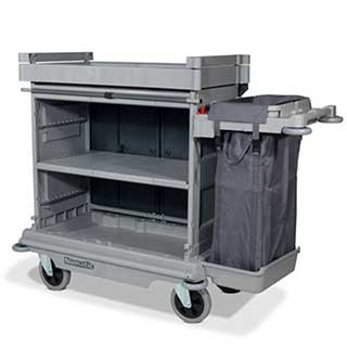 Professional Housekeeping Trolley With Fabric Front And  1 X 100 Litre Bag