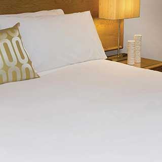 Hotel Pillow Case - 100% Cotton Percale - 200tc - Bag Style - 55x100cm - Pair - White