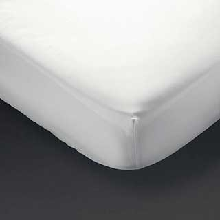 Hotel Fitted Sheet - 100% Cotton Percale - 200tc - 30cm Skirt - White