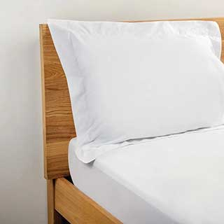 Hotel Pillow Case - 100% Cotton Percale - 200tc - Oxford Style - 66x92cm - Pair - White