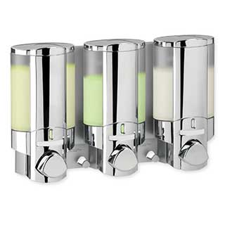 Hotel Toiletries - Soap Dispenser - Aviva 3 - Wall Mounted - Chrome / Clear