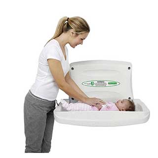 Hotel Wall Mounted Baby Changing Unit - Magrini Foldaway Baby Changing Station
