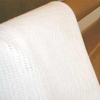 Baby Linen - Cotton Cellular Blanket - Cream