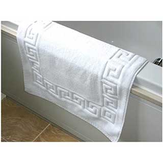 Bath Mat - Luxury Towelling - Greek Key Design - 900gsm ...