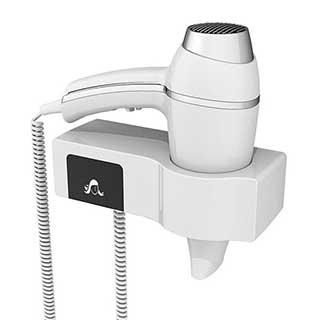 Bathroom Hairdryer - 1875w - Gun Grip Style - Wall Mountable - White