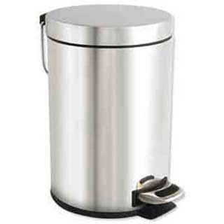 Waste Bins - Bathroom Pedal Bin - 3 Litre - Matt Steel