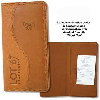 Bill Presenters - Padded - Swirl Design - Pocket Or Tray Designs