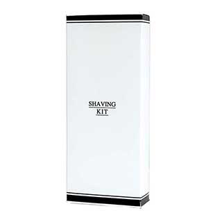 Black & White Collection Hotel Toiletries - Shaving Kit In Carton - 50 Per Case