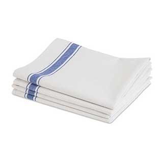 Hotel Tea Towel - Blue Border Dryup Tea Towel - 50x76cm