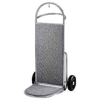 Luggage Trolley - Bolero Luggage Trolley Hand Truck - 1200(h)x595(w)x700(d)mm - Stainless Steel