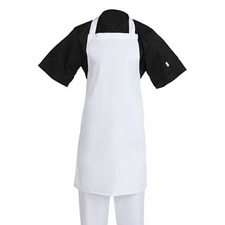 Hotel Aprons - Chefs Bib Style Apron - White
