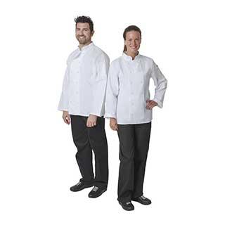 Hotel Chefs Wear - Unisex Whites Vegas Double Breasted Chefs Jacket - Long Sleeve - White