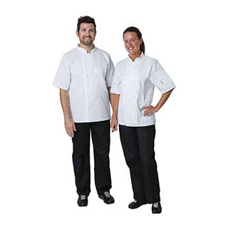 Hotel Chefs Wear - Unisex Double Breasted Chefs Jacket - White