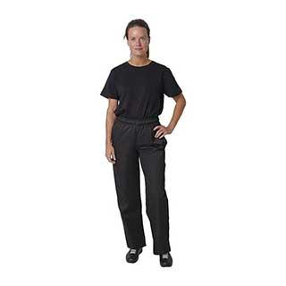 Hotel Chefs Wear - Unisex Whites Vegas Chefs Trousers - Black