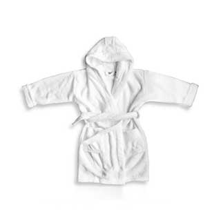 Hotel Bathrobes - Childrens Bathrobes With Hood - Towelling - 450gsm - White