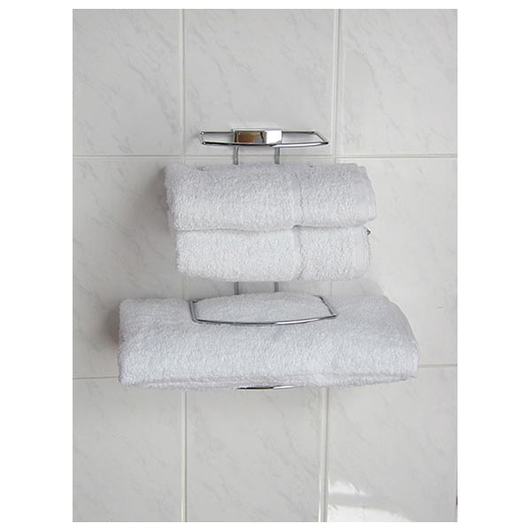 Chrome Bathroom Accessories Deluxe Hotel Towel Rack Chrome