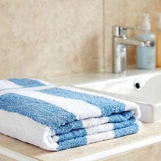 Striped Spa Towel - 100% Cotton - 420gsm - 150x90cm - Blue