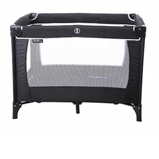 Hotel Travel Cots - Compact Travel Cot - 103 X 73 X 76cm - Black