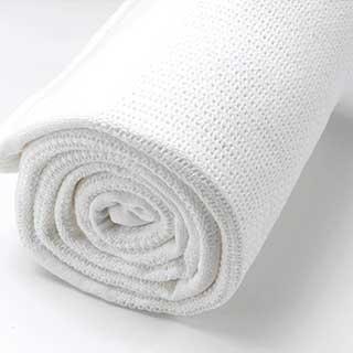 "Baby Linen - 100% Cotton Cellular Blanket - 86x112cm (34x44"") - White"