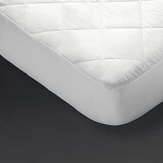 Hotel Mattress Protector - Crown Polycotton - 50/50 Polyester/cotton Top - Fully Fitted - White