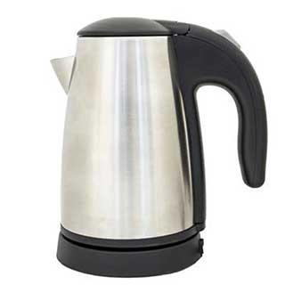 Hotel Kettle - Deluxe Cordless Kettle - 0.5 Litre - 1000w - Brushed Steel And Black