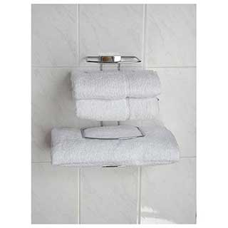 Hotel Room Accessories - Deluxe Hotel Towel Tidy Rack - Chrome