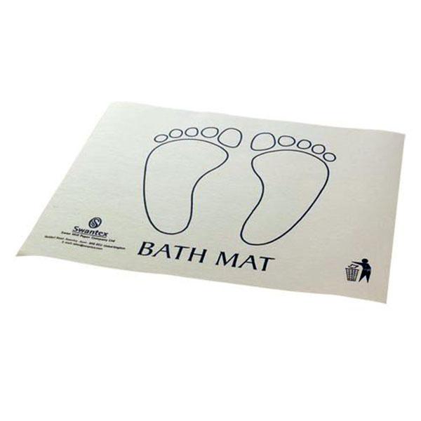 Disposable Bath Mat Superior Quality Printed White