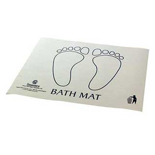 Disposable Bath Mat - Superior Quality - Printed - White - Pack Of 500