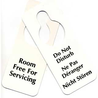 Do Not Disturb Door Notices