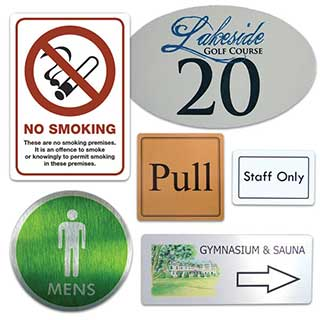 Door Notices - Metal - Small Size 75x50mm (3x2 inches)