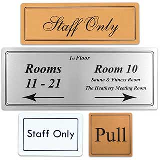 Door Notices - Metal - Medium Size - 100x100mm (4x4 inches)