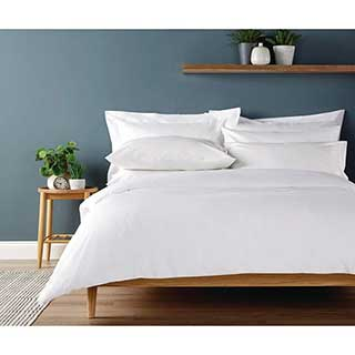 Hotel Eco Organic Duvet Covers With Open End - 100% Organic Cotton - 200tc - White