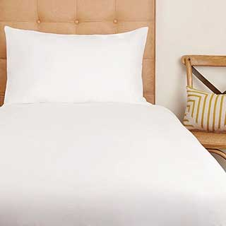 Hotel Eco Organic Fitted Sheets - 100% Organic Cotton - 200tc - White