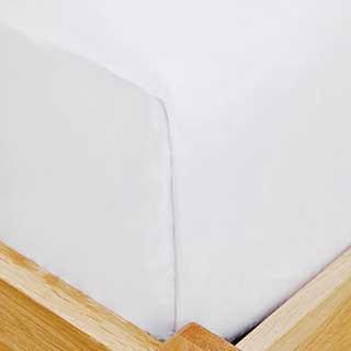 Eco Organic Flat Sheets - 100% Organic Cotton - 200tc - White