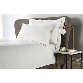 Hotel Eco Organic Pillow Cases - Housewife Style 52x78cm -100% Organic Cotton - 200tc - Pair - White