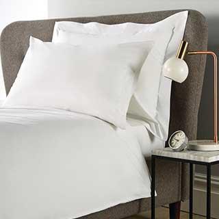 Hotel Eco Organic Pillow Cases - Oxford Style 66x92cm - 100% Organic Cotton - 200tc - Pair - White