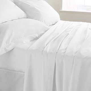 Hotel Fitted Sheet - 200tc Luxury 100% Egyptian Cotton Percale - 40cm Deep Box - White