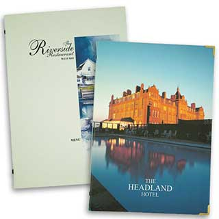 Guest Room Folders - Full Colour - Tag Fixing - A4 Size