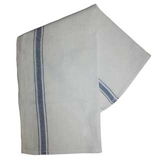 Hotel Glass Cloth - Blue Border