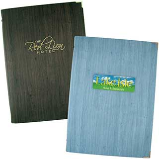 Guest Room Folders - Texturised Wood Effect - Tag Fixing - A4 Size