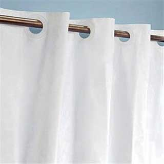 Hookless Shower Curtain - Plain Design - White
