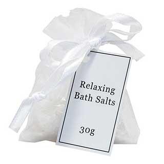 Hotel Amenities - 30g Luxury Bath Salts In Organza Bag - 20 Per Case