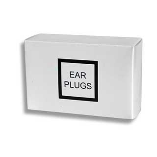 Hotel Amenities - Ear Plugs In White Box - 50 Pairs Per Case