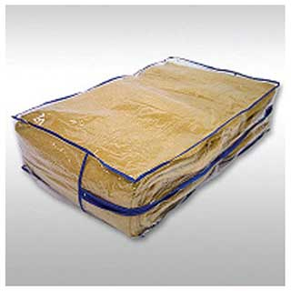 Hotel Blanket Storage Bag - Zipped - With Carrying Handles - Heavy Duty Clear Pvc