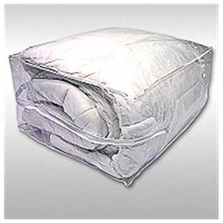 Hotel Duvet Storage Bag - Zipped - With Carrying Handles - Heavy Duty Clear Pvc
