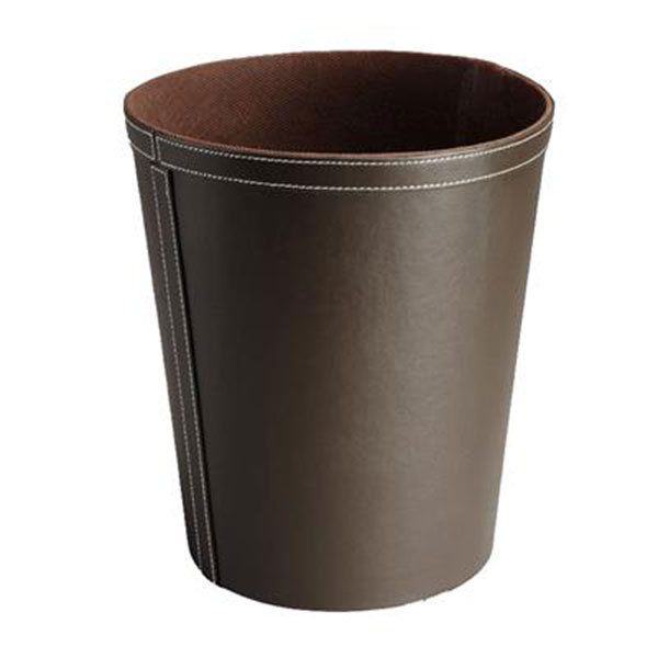 Hotel Bedroom Waste Bin Luxury Faux Leather Round 9