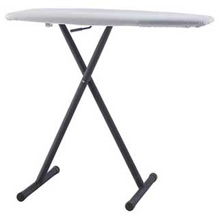 Hotel Guest Ironing Board - 1100mm (h) X 405mm (w) - Black And Silver