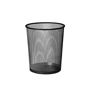 Hotel Waste Bins - Hotel Metal Mesh Bedroom Waste Bin - 9 Litre - Black