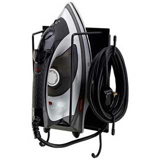 Hotel Safety Iron Organiser - 285mm (h) X 220mm (w) X 110mm (d) - Black