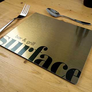 Metal Hotel Table Mats and Coasters